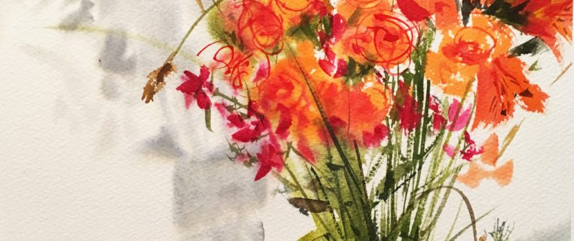 Loosening Up with Wet-Into-Wet Florals