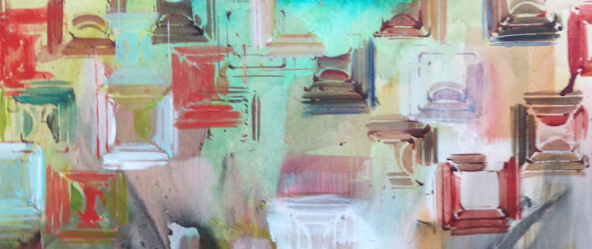 Abstract Painting with Pattern & Texture